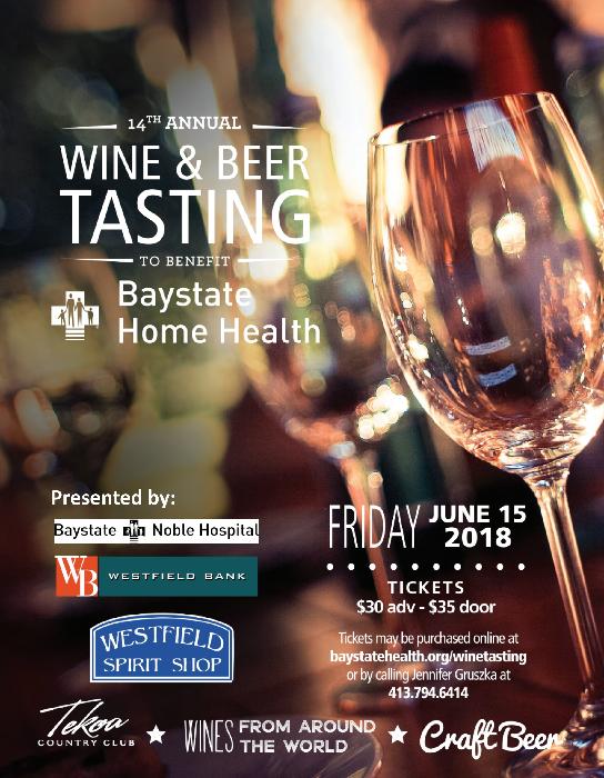 2018 Baystate Home Health Wine Tasting Poster V2